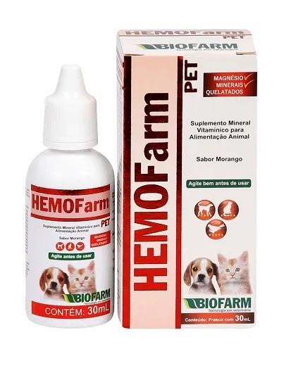 Suplemento Hemofarm Pet 30ml - Biofarm