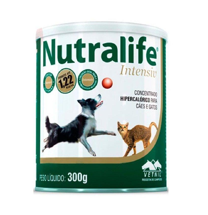 Suplemento hipercalórico Nutralife Intensiv 300g Vetnil Cães e Gatos