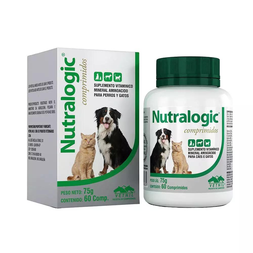Suplemento Nutralogic Vetnil 75g 60 Comprimidos