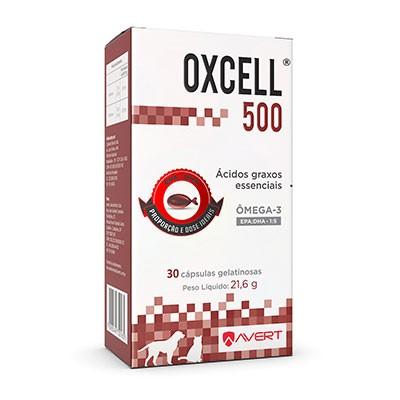 Suplemento Oxcell 1000mg para Cães e Gatos - 30 Cápsulas