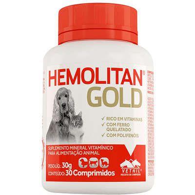 Suplemento Hemolitan Gold Vetnil 30 Comprimidos