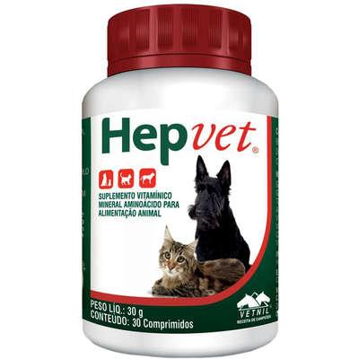 Suplemento Vetnil HepVet 30 comprimidos para  Cães e Gatos 30g