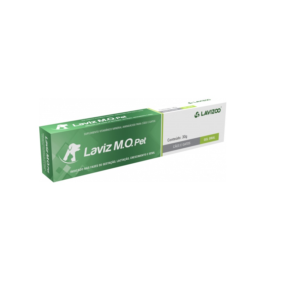 Suplemento Vitamínico Mineral Aminoácido Lavizoo Laviz Pró+Pré Pet para Cães e Gatos 14g