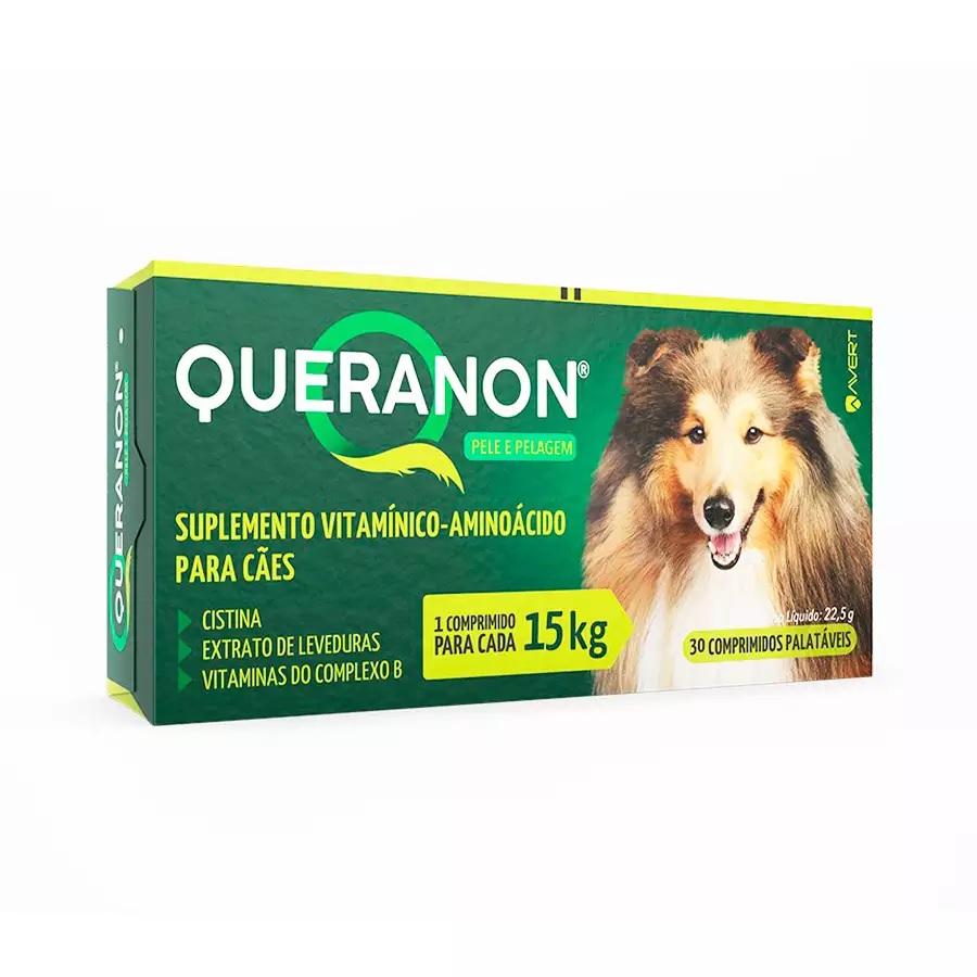 Suplemento Vitamínico Queranon para Cães 30 com Comprimidos 22,5g
