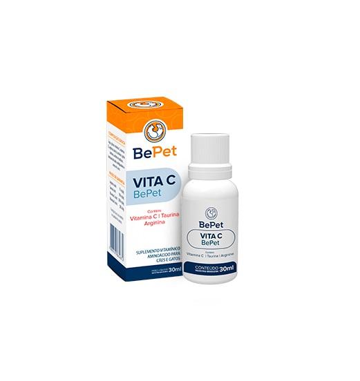 Suplemento Vitamínico Vita C Bepet Cães e Gatos 30ml