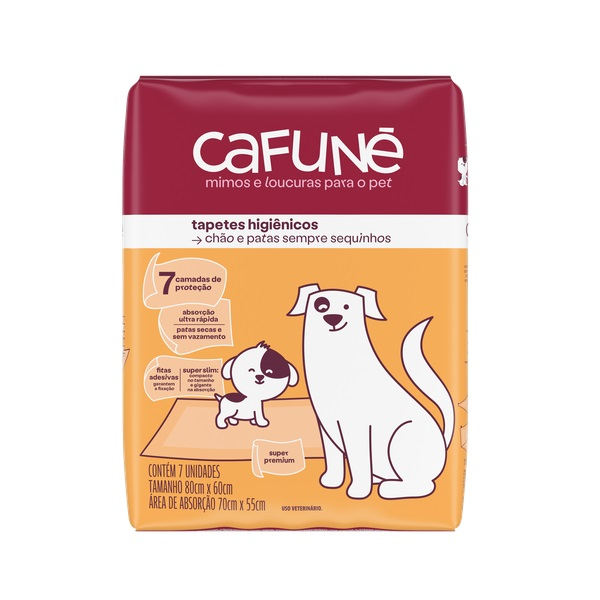 Tapete Higiênico Cafuné para Cães 80x60 7und