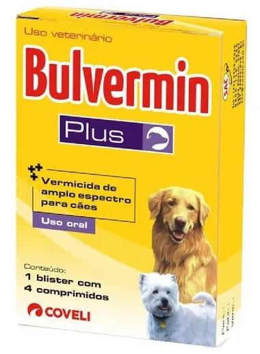 Vermifugo Bulvermin Plus para Cães 4 Comprimidos