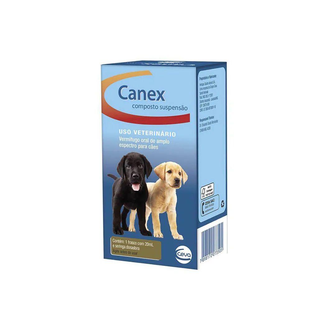 Vermífugo Canex Composto Suspensão para Cães 20ml