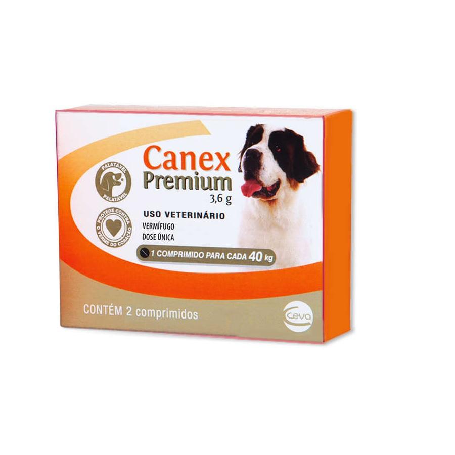 Vermífugo Canex Premium 3,6g Cães ate 40kg