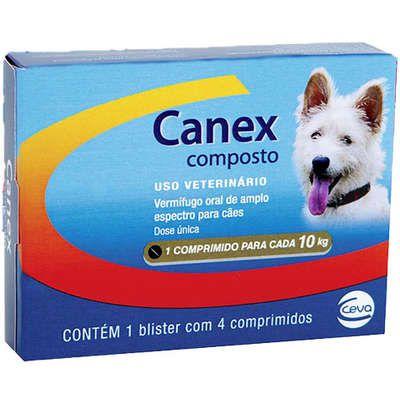 Vermífugo Ceva Canex Composto para Cães 4 comprimidos