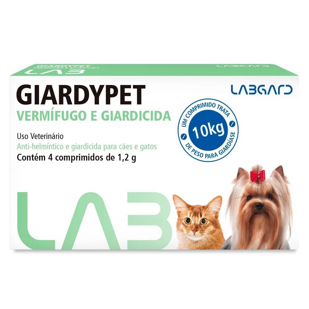Vermífugo e Giardicida Giardypet 4 Comprimidos