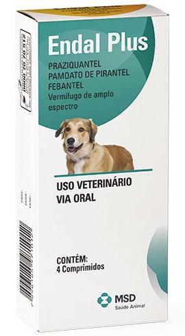 Vermifugo MSD Endal Plus 4comprimidos