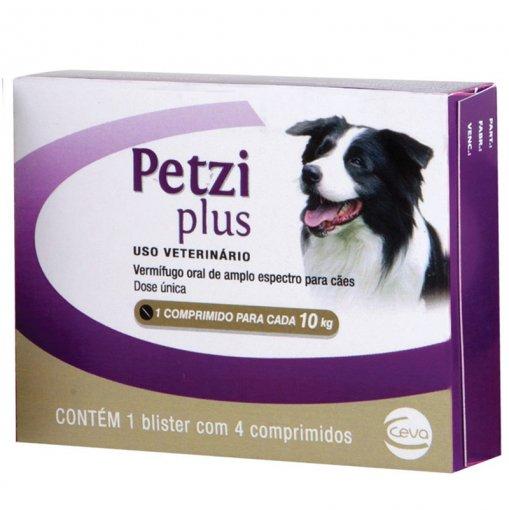 Vermífugo Petzi Plus 10 kg - 4 Comprimidos