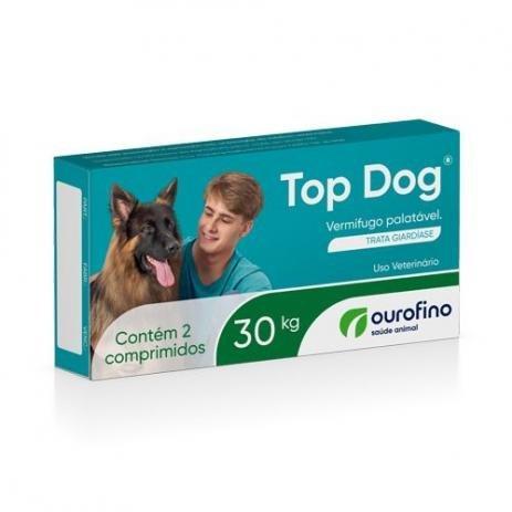 Vermifugo Top Dog 30kg C/ 2 Comprimidos Ourofino