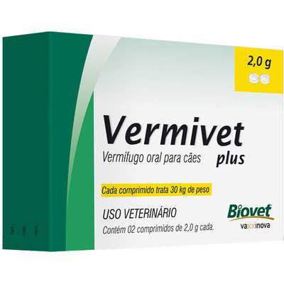 Vermífugo Vermivet Plus 2,0g Biovet para Cães