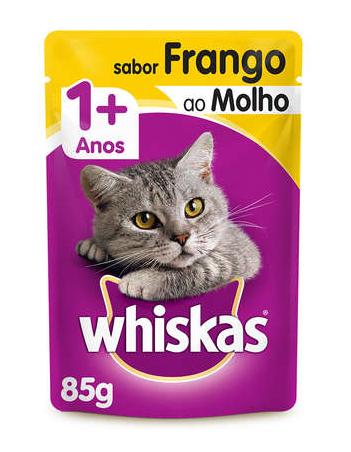 Whiskas Sache Frango ao Molho em Salsa para Gatos Adultos 85g