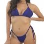 Biquíni Agra - Top Cortininha e Tanga Amarradinho Azul