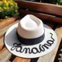 Chapéu Panamá Personalizado com Nome e Faixa Preta