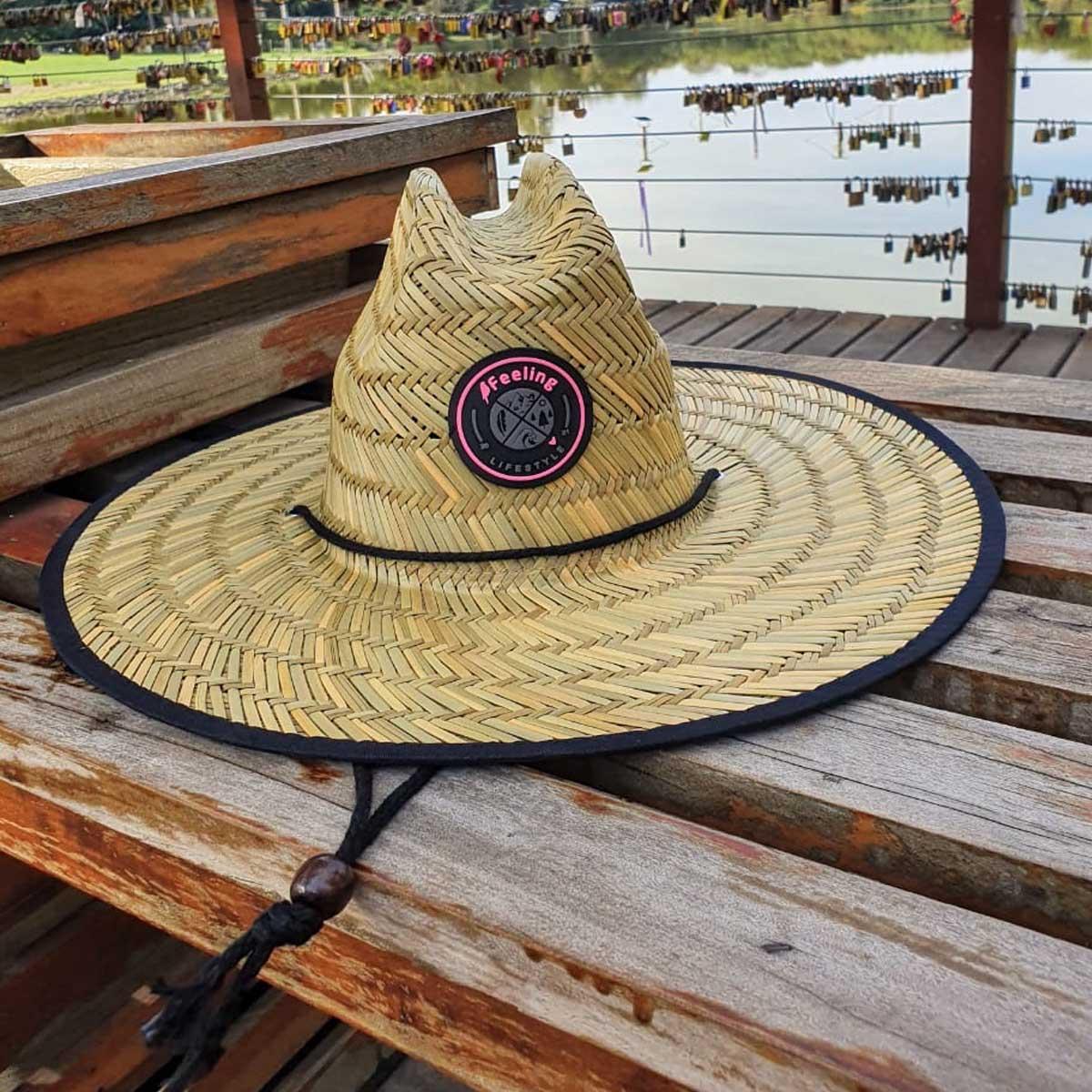 Chapéu de Palha Pierside com Viés Feminino