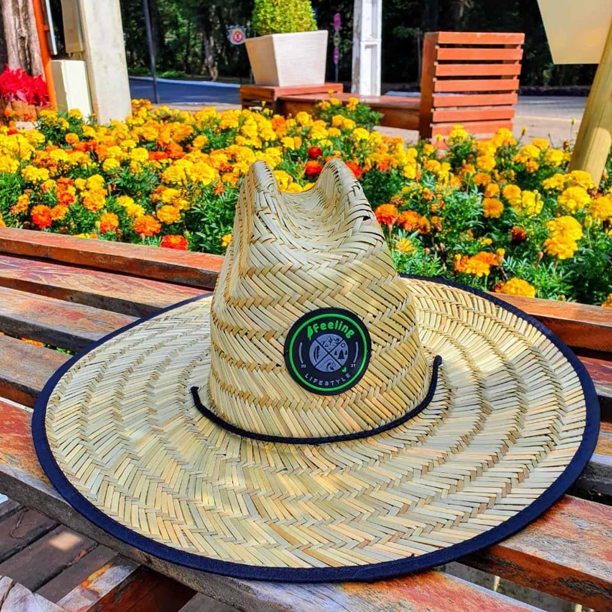 Chapéu de Palha Pierside com Viés Masculino