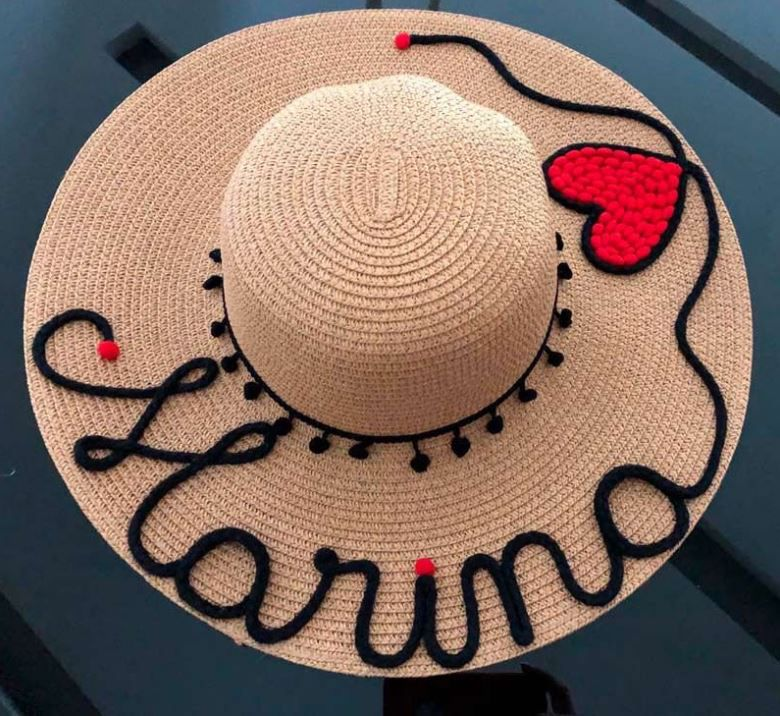 Chapéu personalizado Nome + Coração