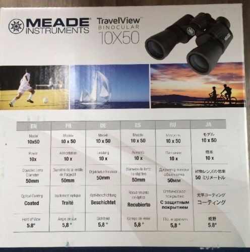 Binoculo Meade 10x50 Travel View + Brinde (suporte p/ tripe)