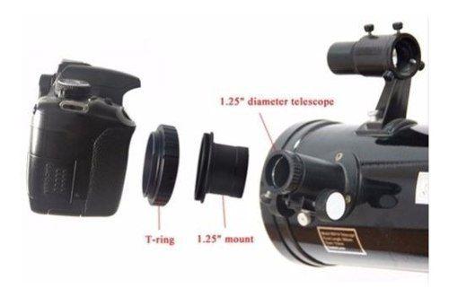 Anel T2 Canon + Tubo Telescópio 1.25 Astrofotografia