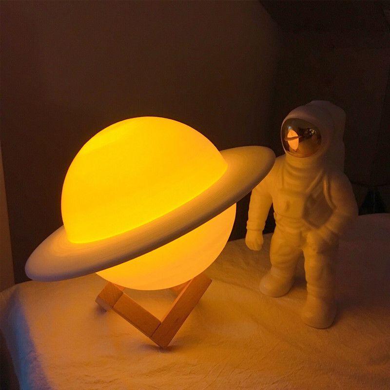 Saturno Luminária 3D
