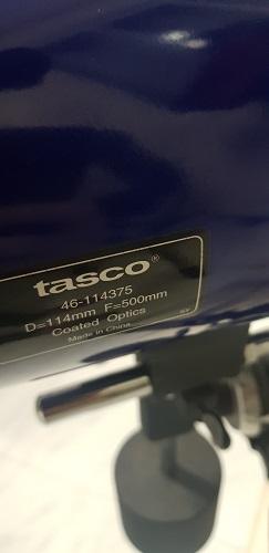 Telescopio Tasco 114mm EQ