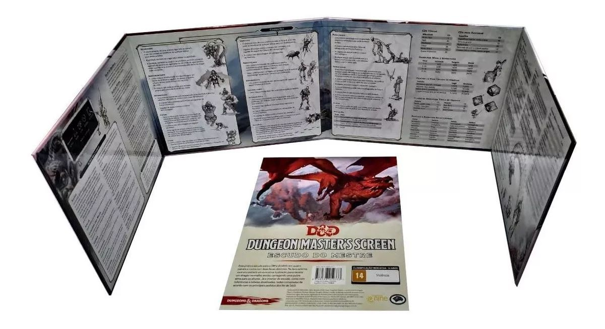 Dungeons e Dragons Master's Screen - Escudo do Mestre