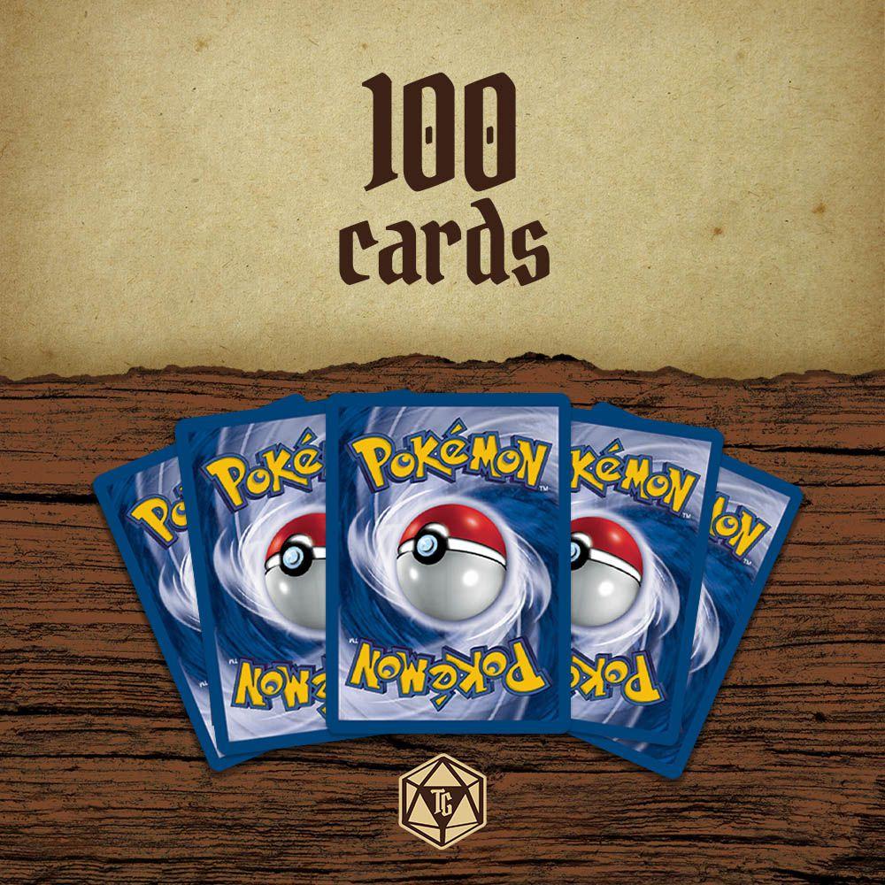 Lote de 100 Cartas de Pokémon