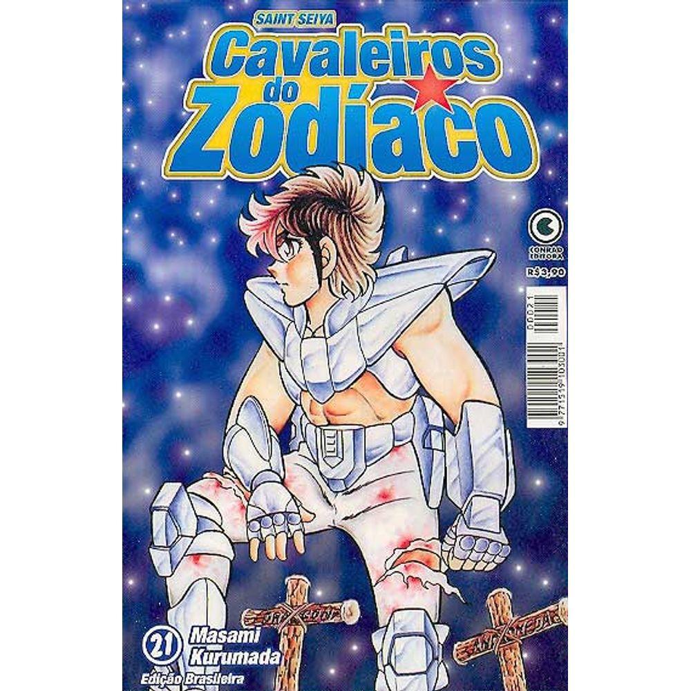 Os Cavaleiros do Zodíaco (Saint Seiya) - 1ª Edição - Volume 21 - Usado