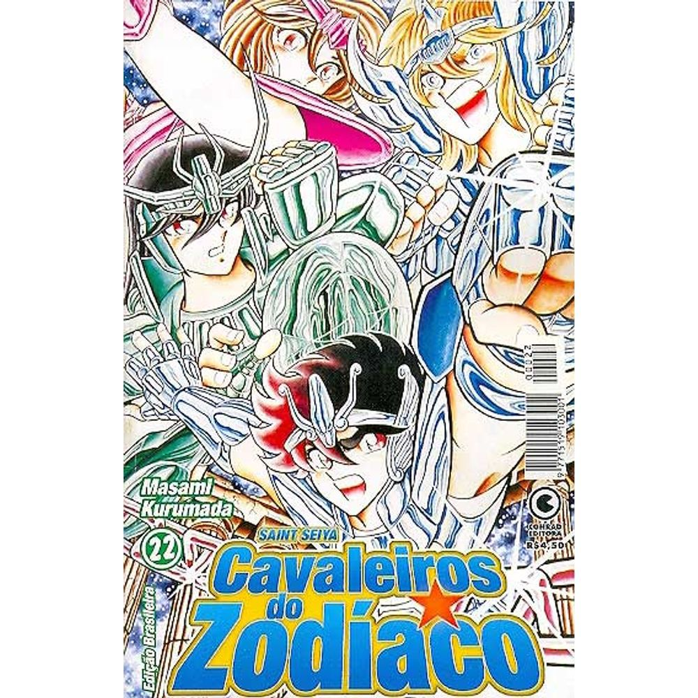 Os Cavaleiros do Zodíaco (Saint Seiya) - 1ª Edição - Volume 22 - Usado