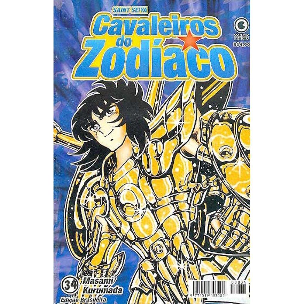 Os Cavaleiros do Zodíaco (Saint Seiya) - 1ª Edição - Volume 34 - Usado