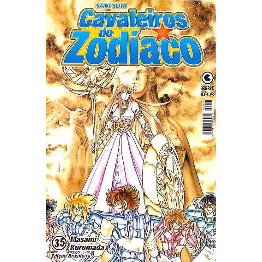 Os Cavaleiros do Zodíaco (Saint Seiya) - 1ª Edição - Volume 35 - Usado