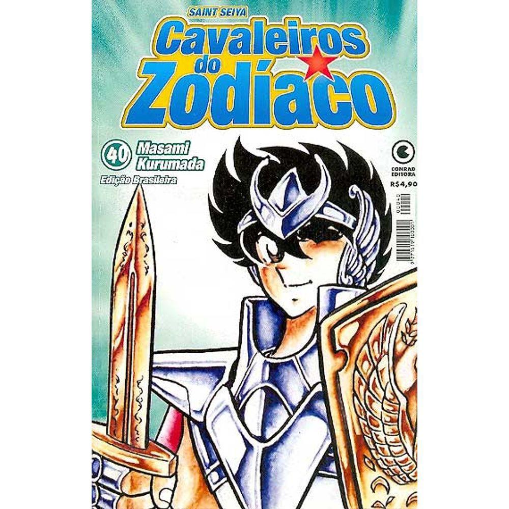 Os Cavaleiros do Zodíaco (Saint Seiya) - 1ª Edição - Volume 40 - Usado