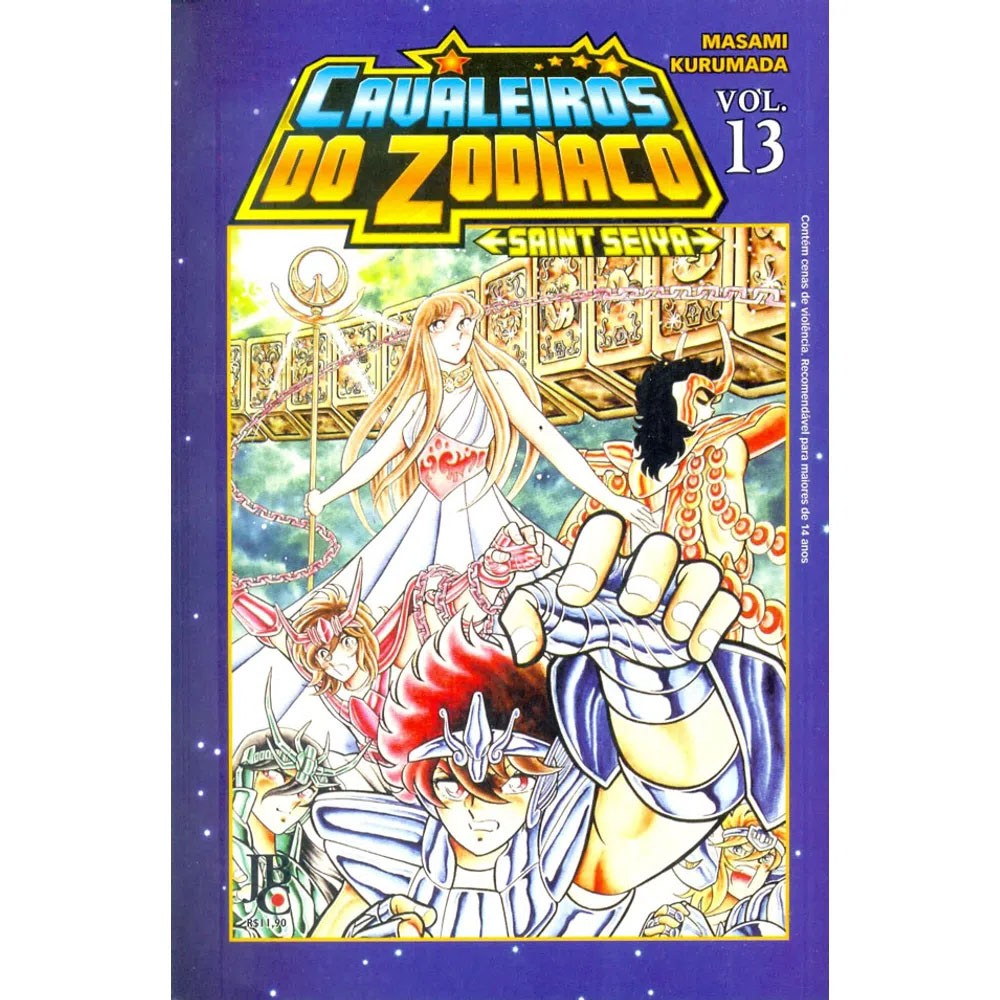 Os Cavaleiros do Zodíaco / Saint Seiya - Volume 13 - Usado