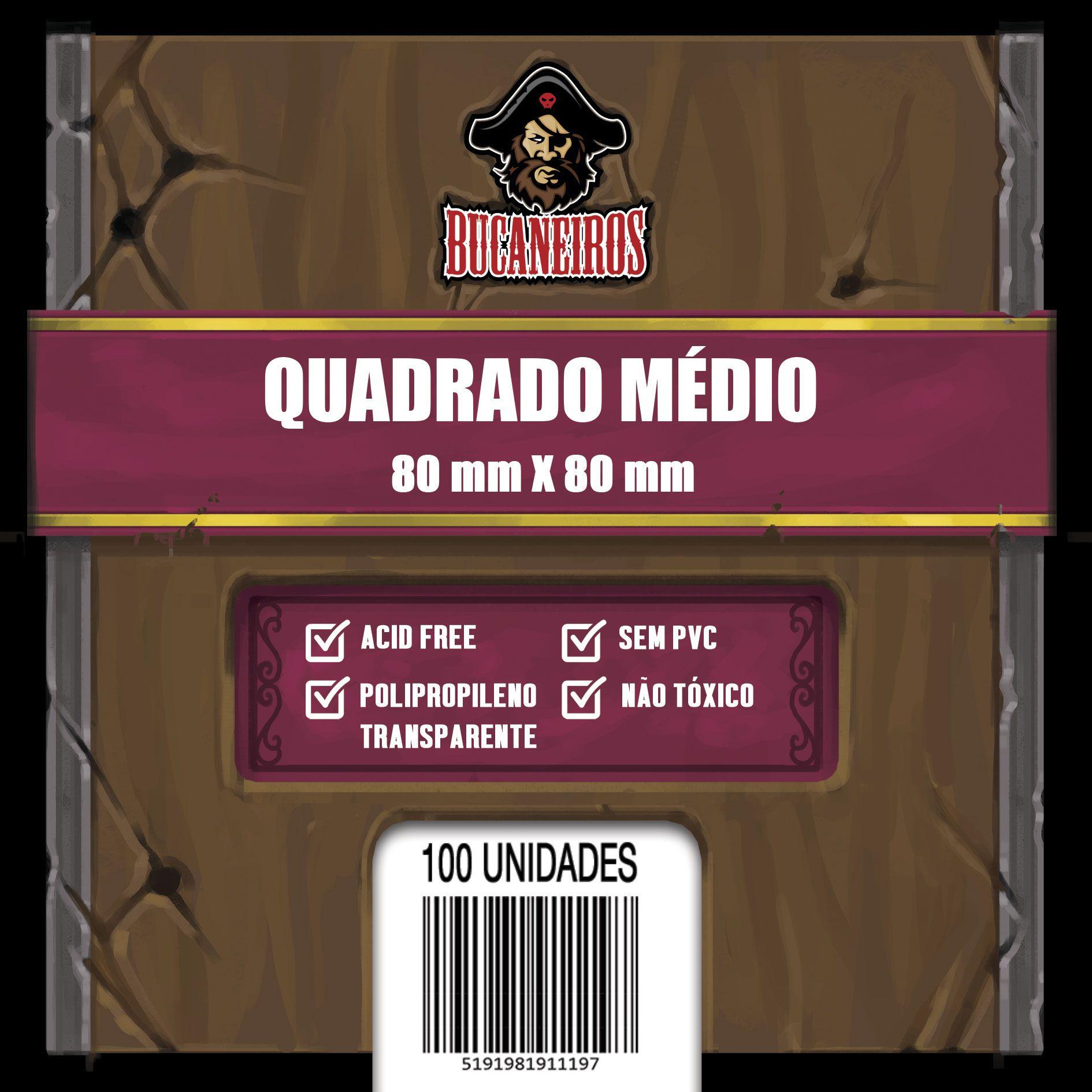 Sleeve Quadrado Médio - (80x80) - Bucaneiros