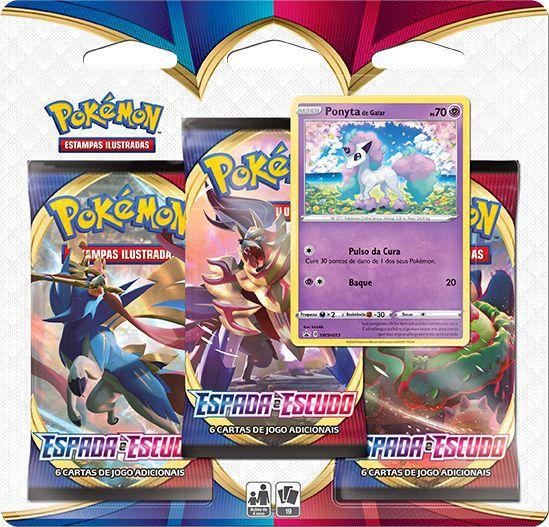 Triple Pack - Espada e Escudo - Ponyta de Galar