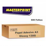 Caixa de Papel Adesivo Glossy A3 130G 600 folhas