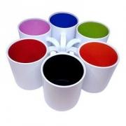 Caneca de Polímero com Interior Colorido 300ML DIVERSAS CORES