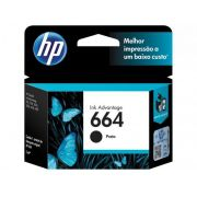 Cartucho de Tinta HP 664 Black  Original