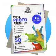 Papel A3 Fotográfico Glossy 230G MUNDI 50 FLS