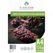 Papel A4 Adesivo Glossy 135g 20 folhas X-COLOUR