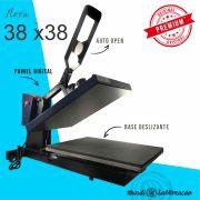 Prensa Térmica Plana (Base 38x38) Magnética com Gaveta Premium -