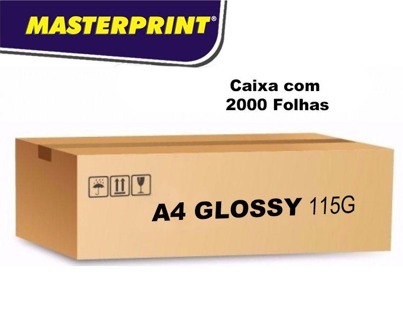 Caixa  Fotográfico Glossy 115G 2000 folhas