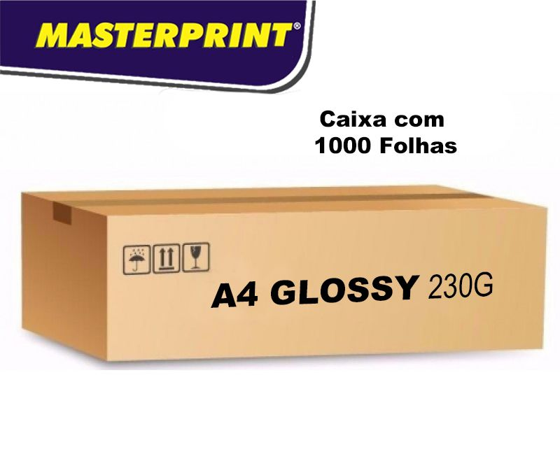 Caixa Fotográfico Glossy 230G 1000 folhas
