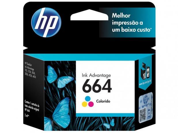 Cartucho de Tinta HP 664 Color  Original
