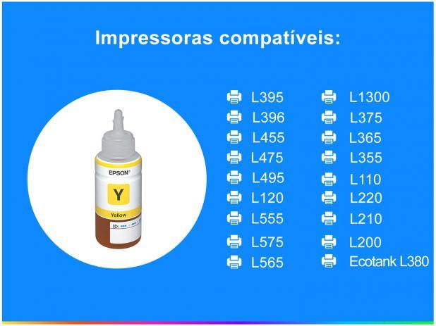 Tinta Epson Original 664 Yellow 70 ML