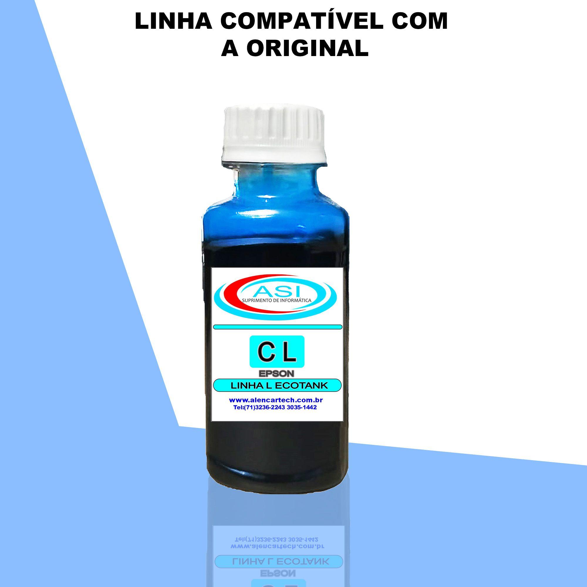 Tinta Linha L Eco Tank ASI  Ciano Light 100ML/500ML/1LITRO